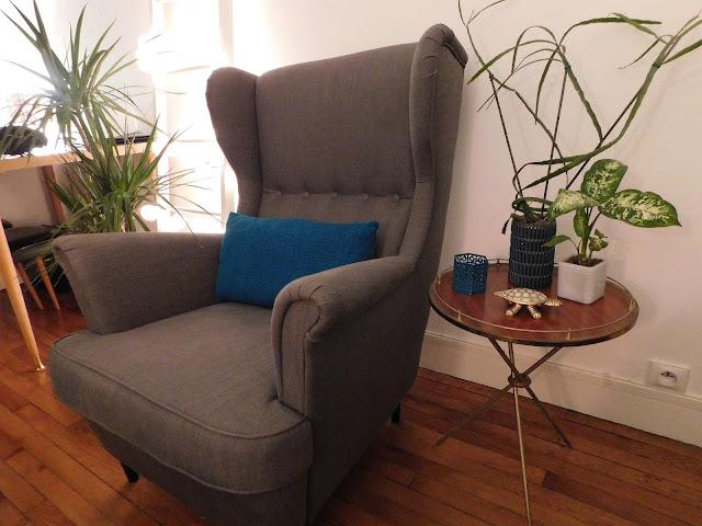 Air B&B Paris flat apartment stay Parisian bedroom chair interiors