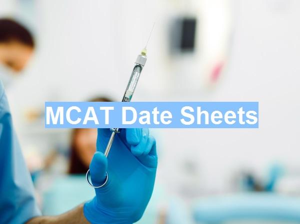 MDCAT Test Date Sheets in All Pakistan - 2018