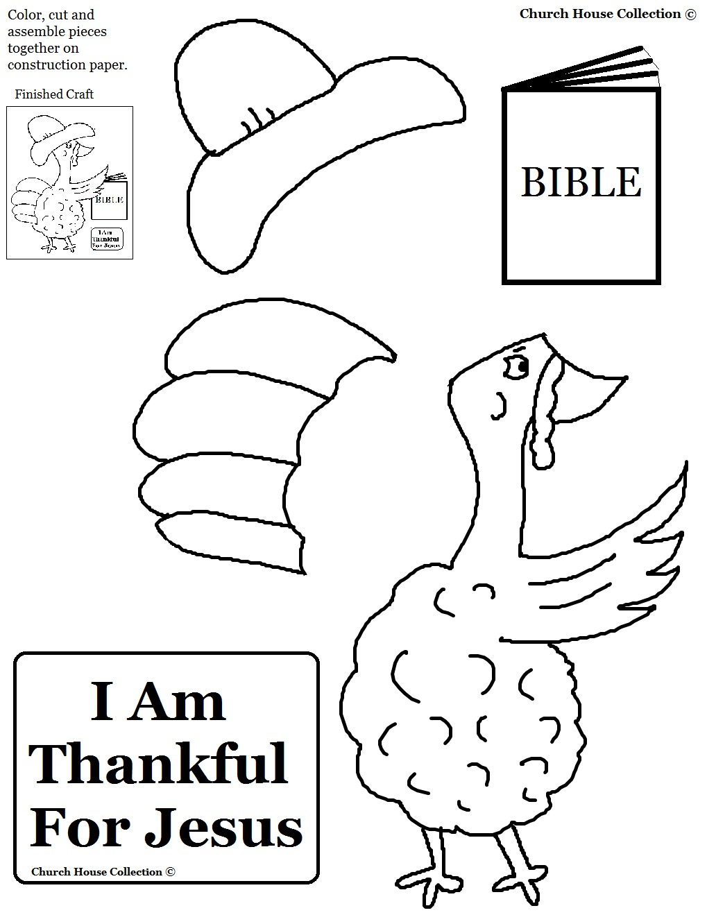 Church house collection blog thanksgiving turkey i am for Thanksgiving coloring pages for children s church