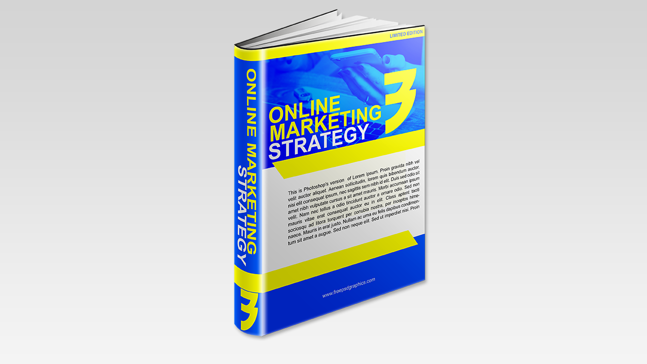 Online Marketing Free Ebook Cover Template - Free PSD Graphics