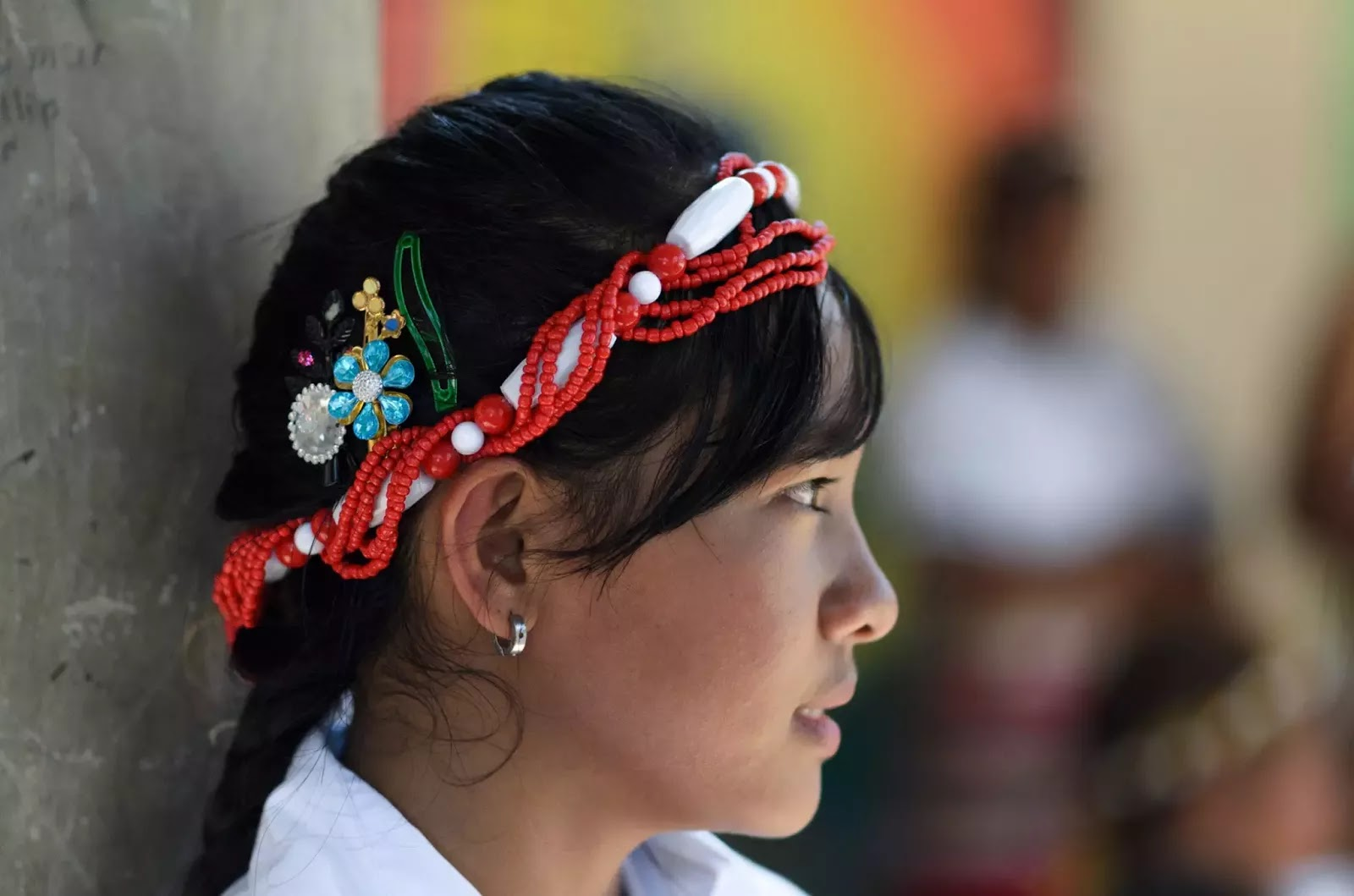Mountain Province Ethno Indigenous Youth Headgear Portrait