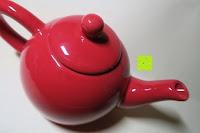 Kanne oben: Porzellan Teekannenservice von Original First Tea (Rot)