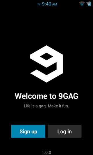 Hasil gambar untuk aplikasi 9GAg