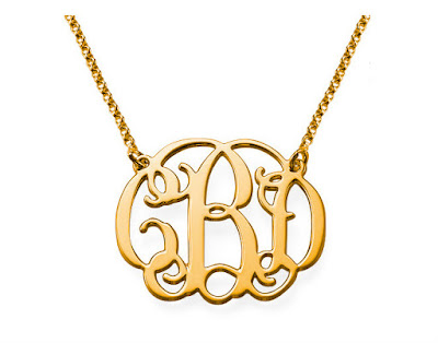 Gold Monogram Necklace | Libi & Lola