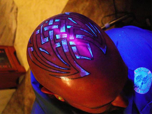 On Scalp UV Tattoos or Black Light Tattoos