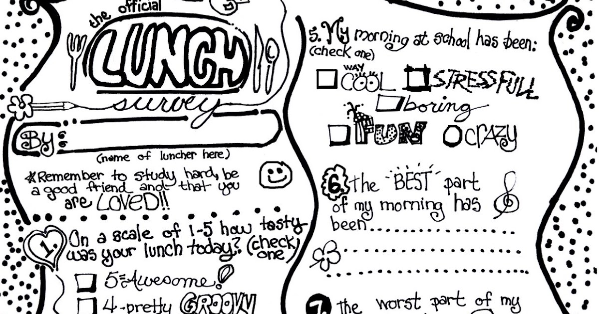 Be Different...Act Normal: Lunch Box Survey