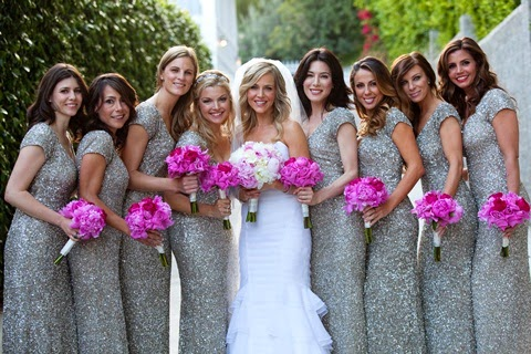 4a21cc68dbf Women Love Sequin Glitter   Silver Sequined Bridesmaid Dresses and ...