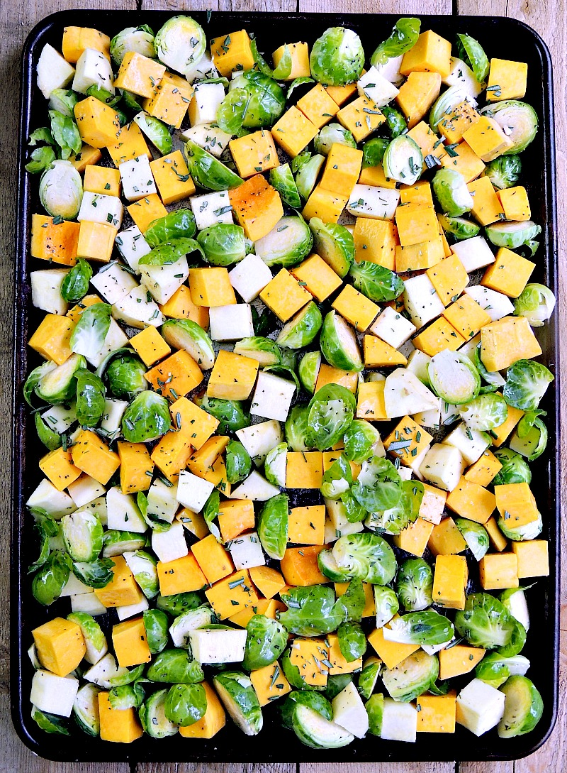 Sheet Pan Roasted Vegetables are the easiest, and tastiest vegetables you can make. I guarantee they will become a family favorite! From www.bobbiskozykitchen.com