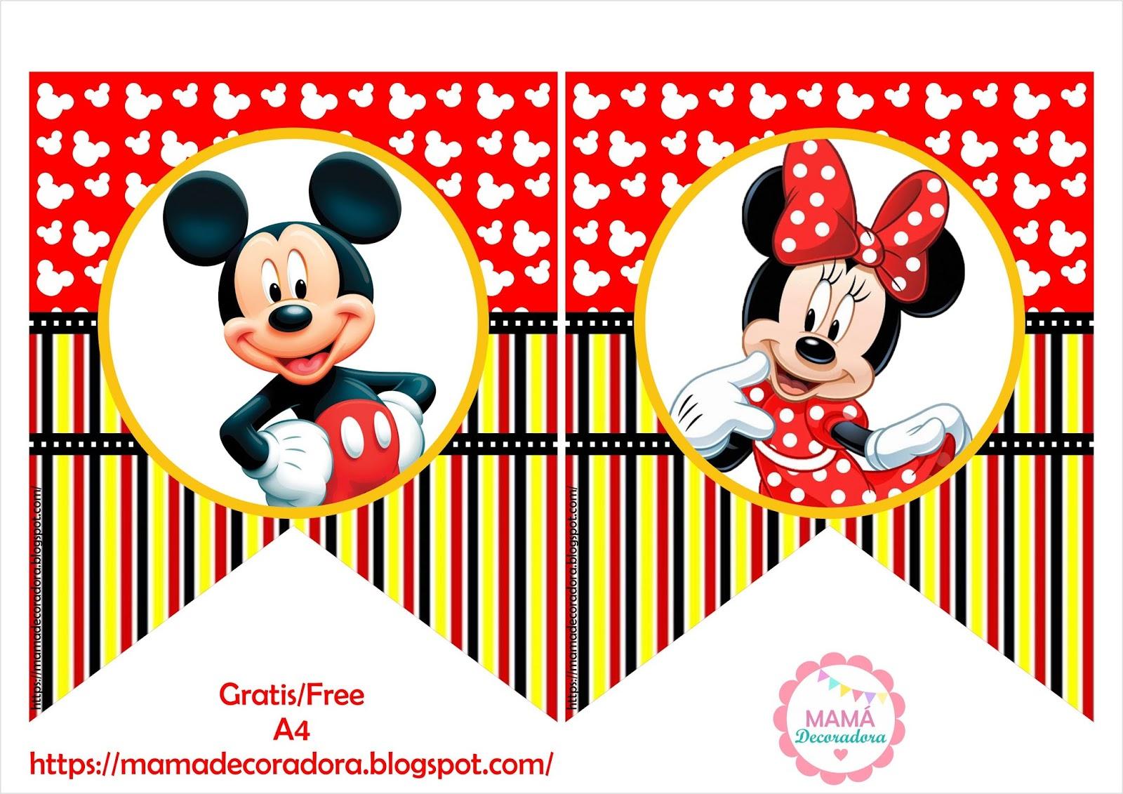 Mamá Decoradora Kit Imprimible Mickey Mouse Gratis