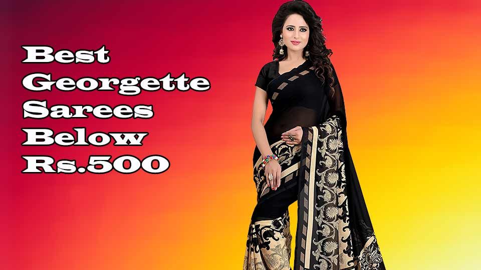 georgette sarees below 500 online shopping store
