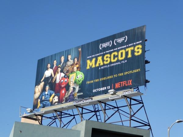 Mascots Netflix billboard