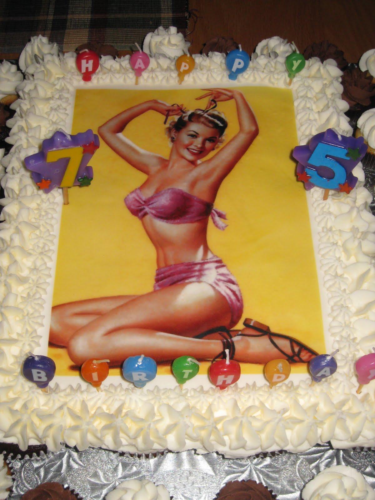 The Novice Goddess Kitchen Pin Up Girl Cupcake Cake