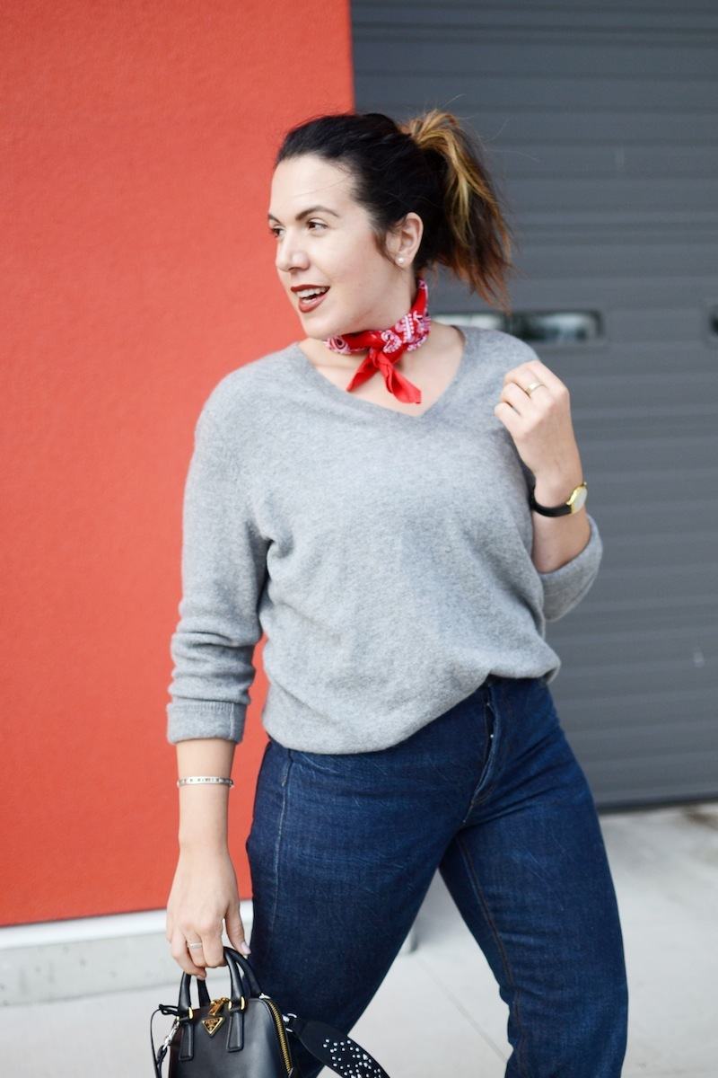 Geox Carey heels, Gap vintage straight jeans cashmere sweater simple work weekend outfit Vancouver fashion blogger
