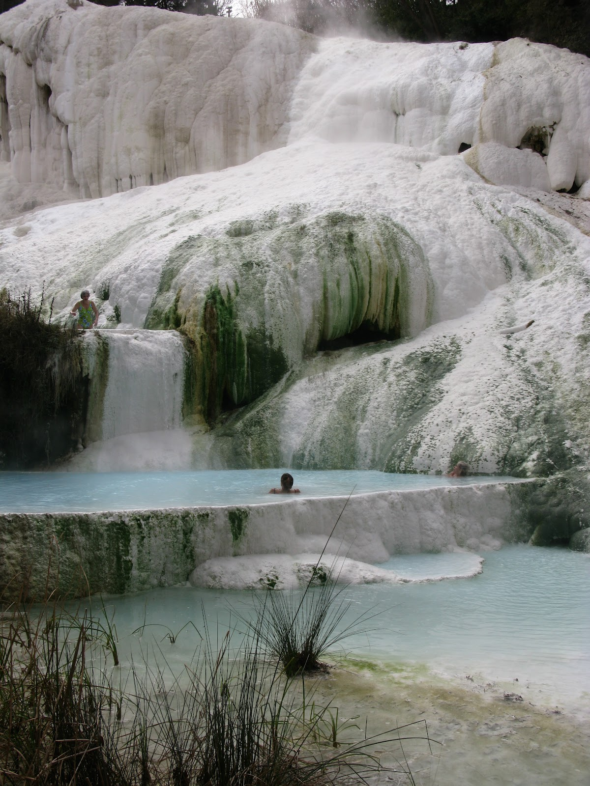 tuscany: tuscan hot springs - fosso bianco in bagni san filippo