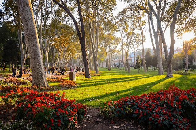 Parque Gülhane em Istambul na Turquia