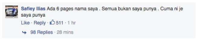 Pemberian Beg Berjenama Secara Percuma Oleh Safiey Ilias di Facebook Adalah Palsu