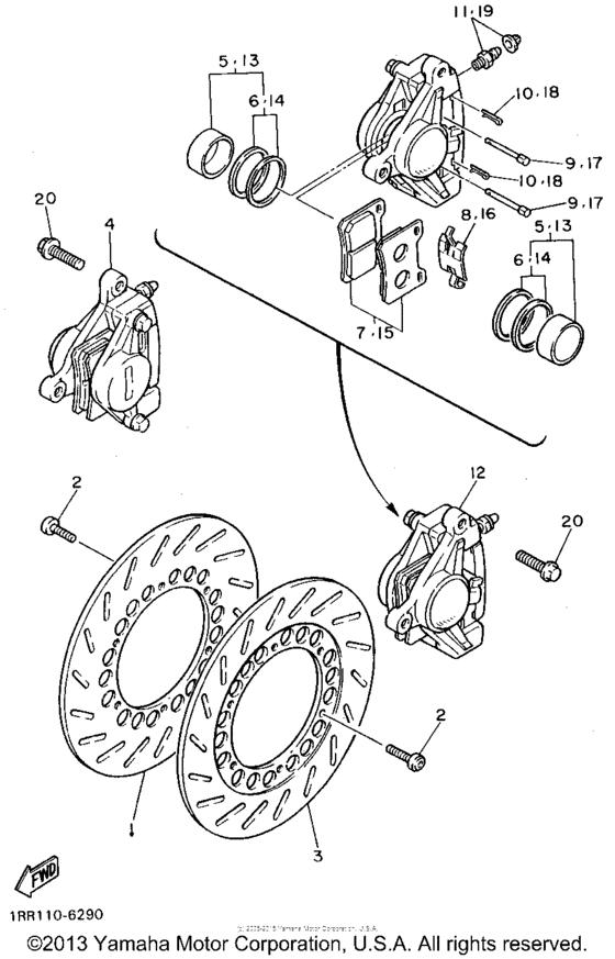Yamaha Virago: Brakes