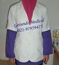 Contoh Baju Dokter Perempuan Tipe Lengan Pendek