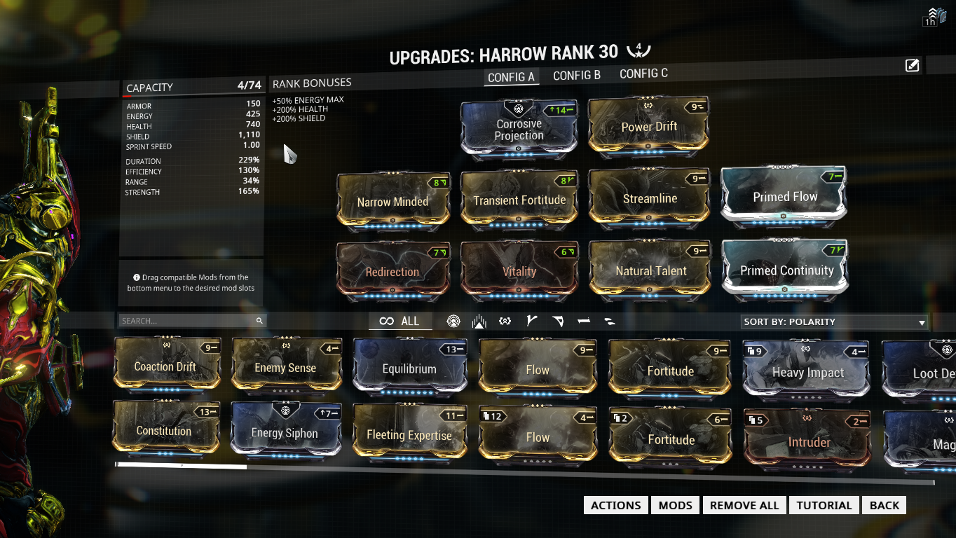 I think I found the best build for Harrow in Endless Survival
