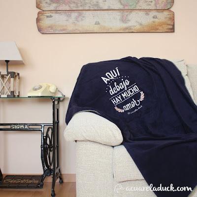 sofa y manta