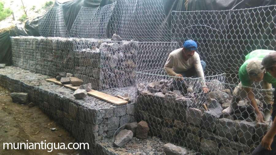 Muros de gaviones malla metlica para muros de contencin - Malla para gaviones ...