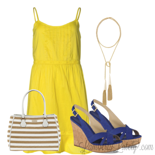 Nautical Yellow and Blue, with Kate Spade and Kendra Scott