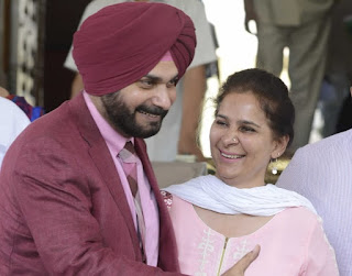 Sidhu And his wife Navjot