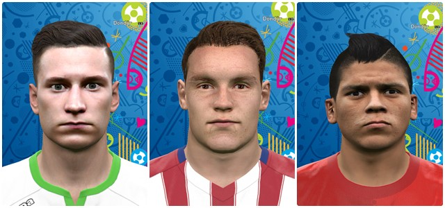 Gameiro, Rojo, Draxler face by Vusal03