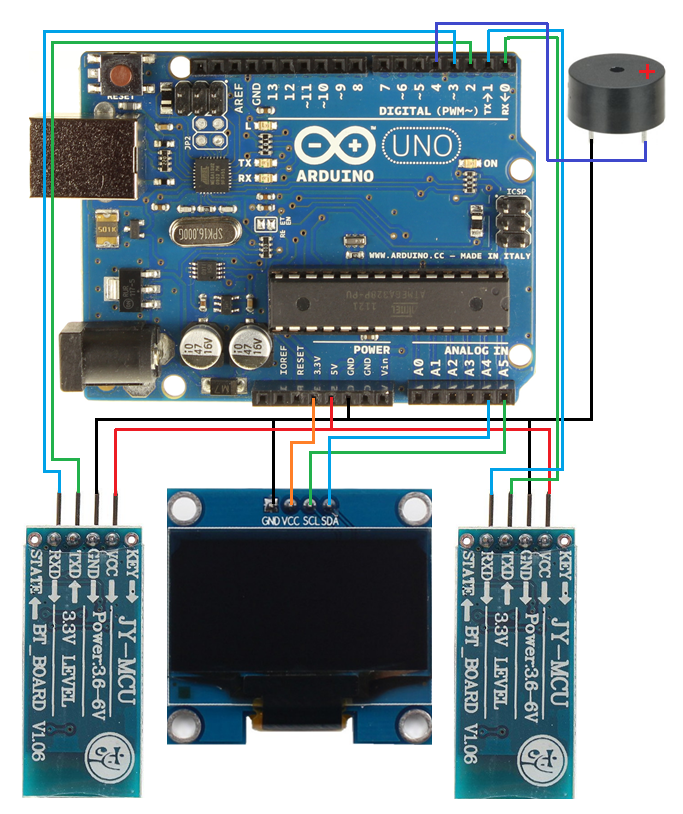 Android arduino bluetooth game pong oled