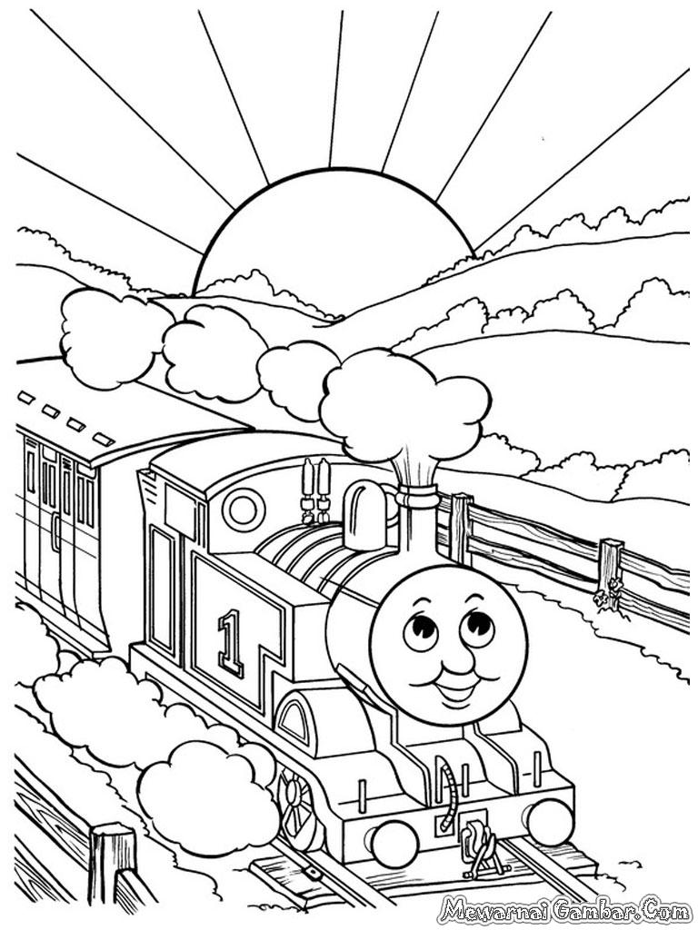 Gambar Sketsa Kereta Api Thomas
