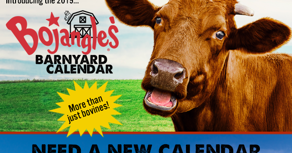 Tomorrows News Today  Atlanta Bojangles Bringing Bovines to Barnyard Calendar in 2019