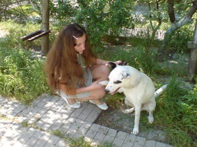 С собакой во дворе