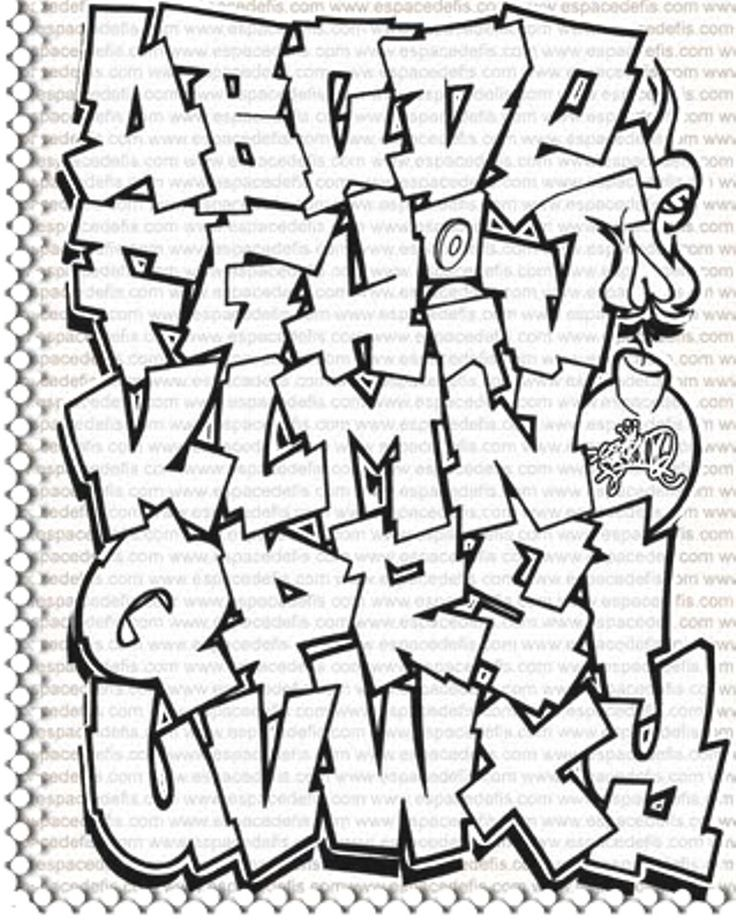 graffiti letters alphabet