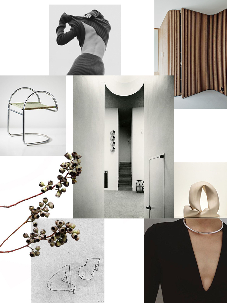 Inspiration moodboard curated by Eleni Psyllaki