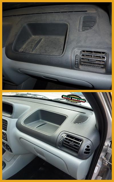 limpieza detallada del interior del carro
