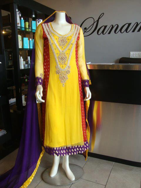 Fashion Ki Dunia Latest Mehndi Dresses For Girls 2012 13