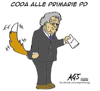 verdini, primarie PD, affluenza, vignetta, satira