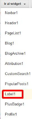 Ir al widget en plantilla de Blogger