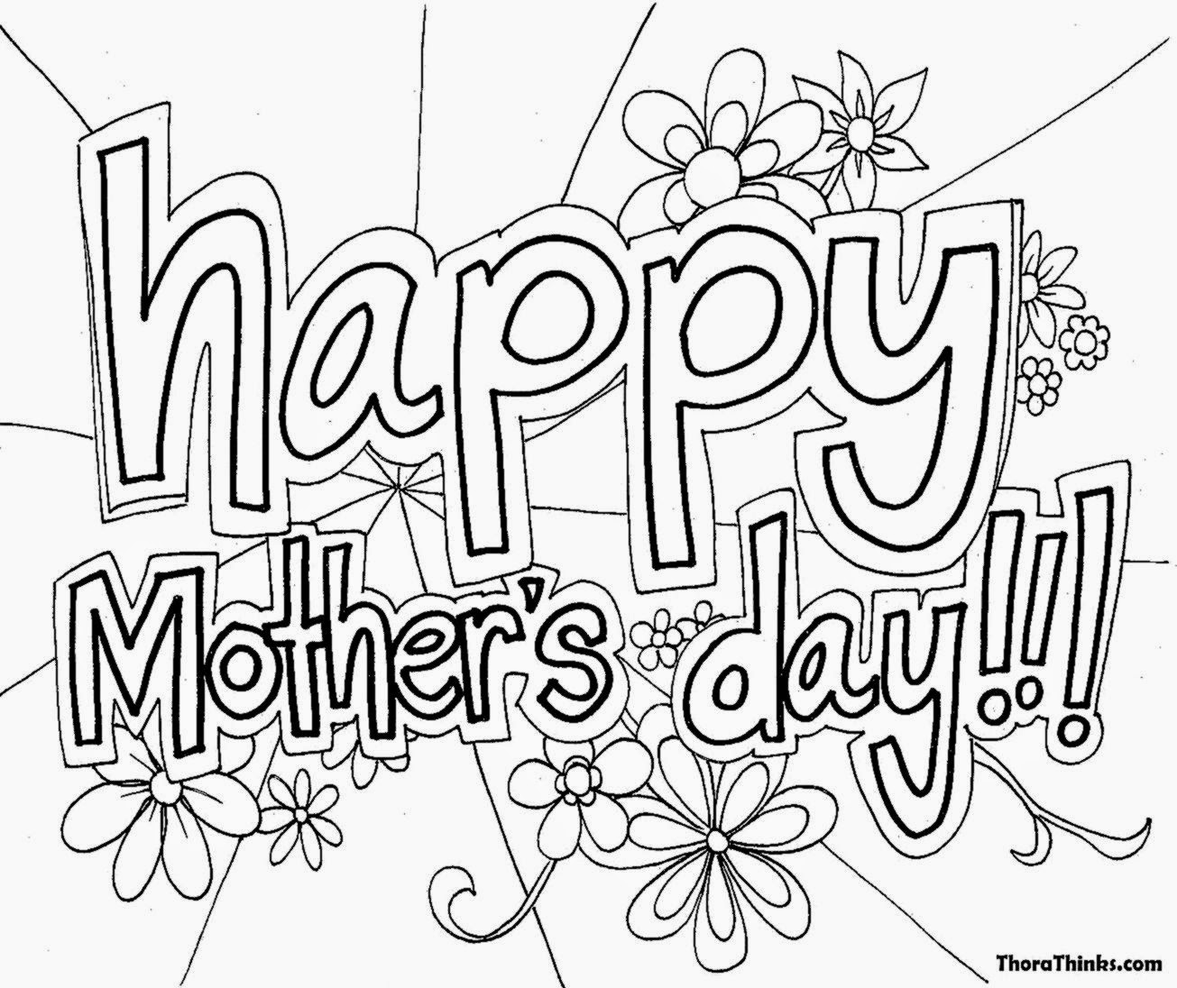 Mothers day coloring pictures free coloring pictures for Happy mothers day coloring page