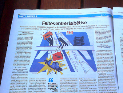 Clod illustration fait-divers le Parisien Aujourd'hui en France