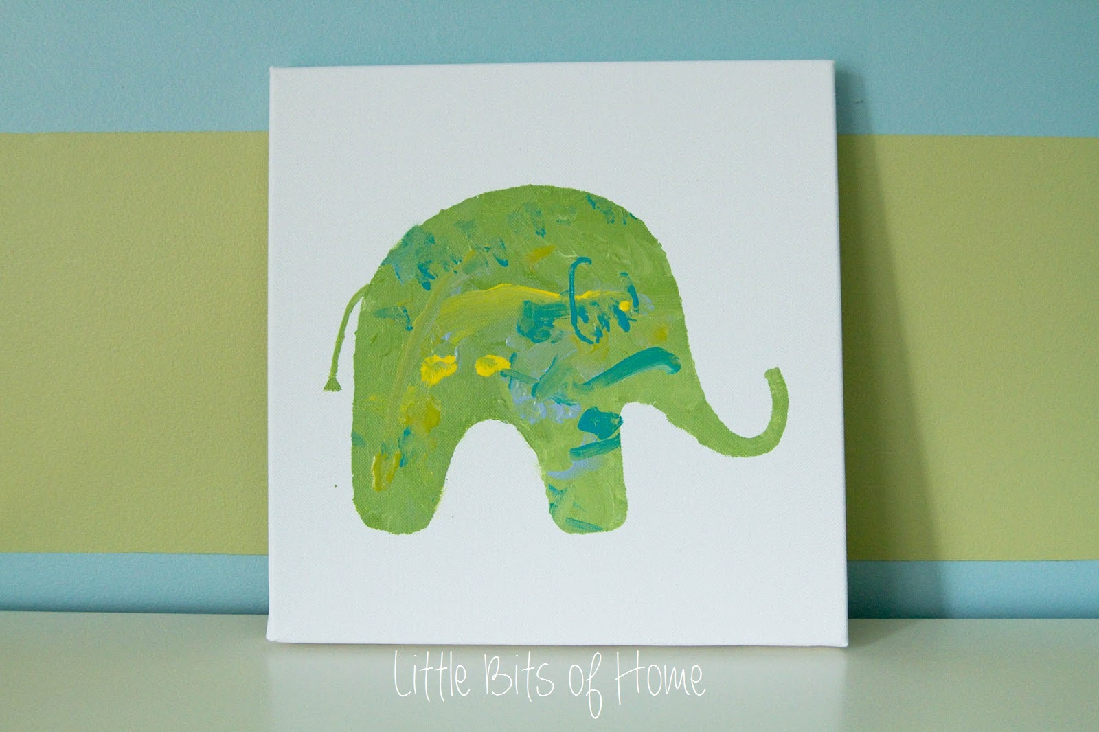 Kids Artwork Elephant #kids #playroom #kidspace #color #art