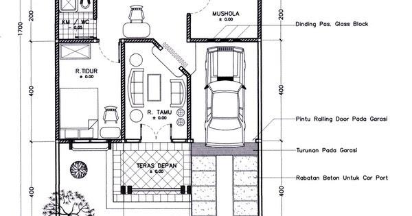 Gambar Denah Rumah Ukuran Tanah 6x9 1 Lantai Idaman