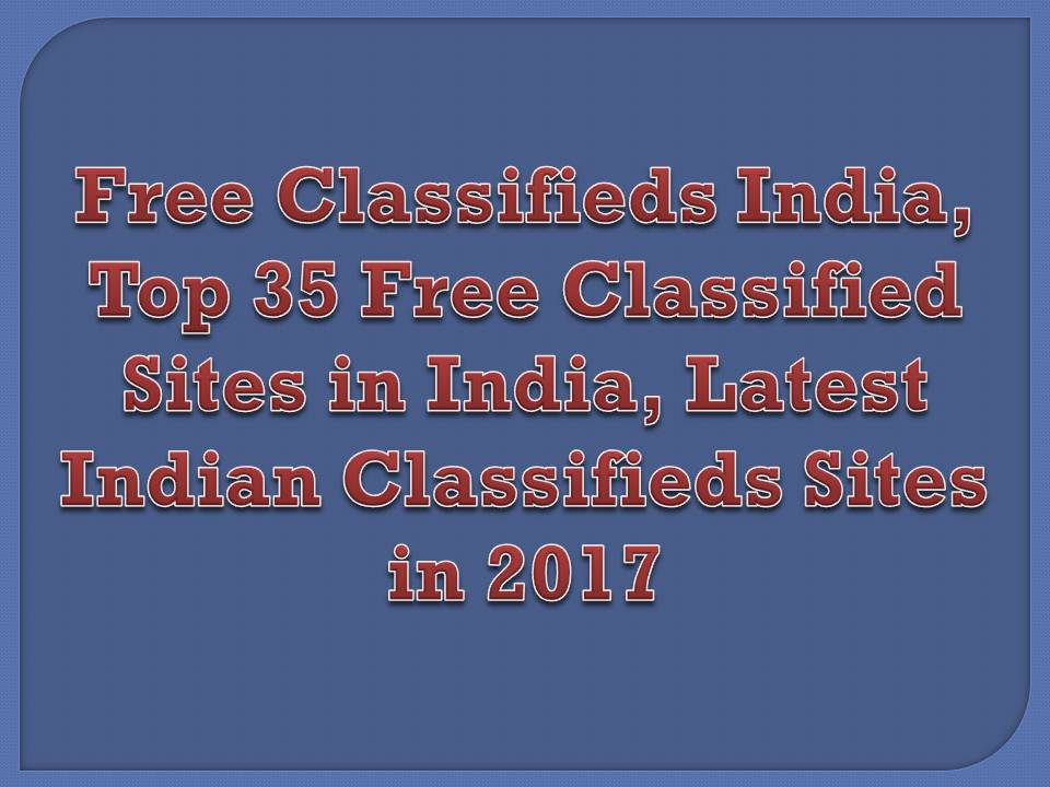 Free online classifieds websites india