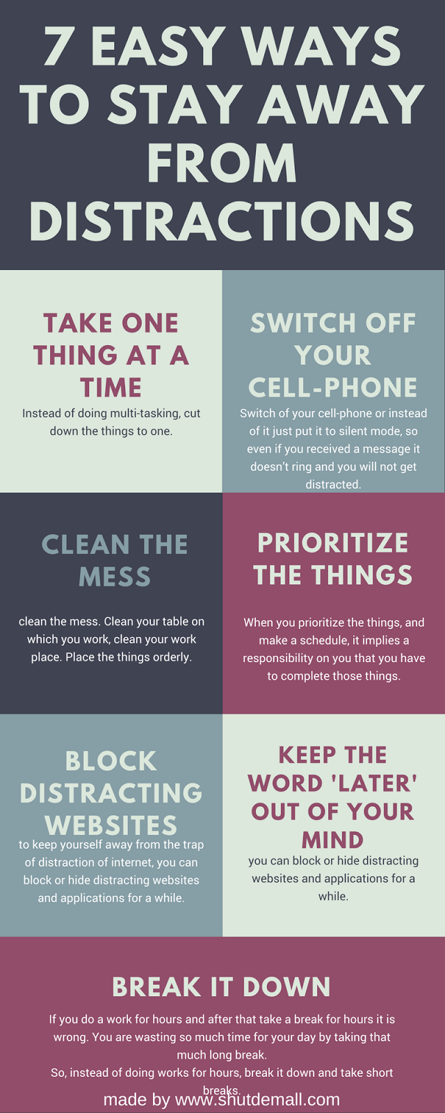 7 easy ways to stay away from distractions