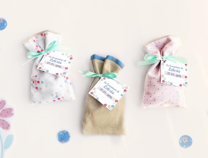 bomboniere floreali per comuninione coordinate al kit grafico letizia
