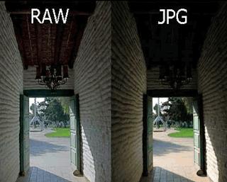 Format RAW kualitas baik dibandingkan JPEG