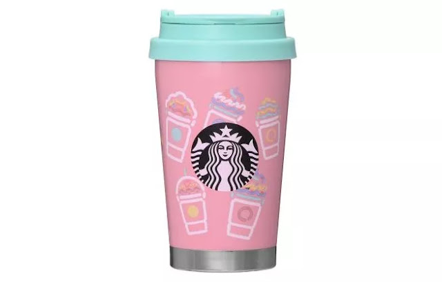 Frappuccino Pink Stainless To Go Logo Tumbler