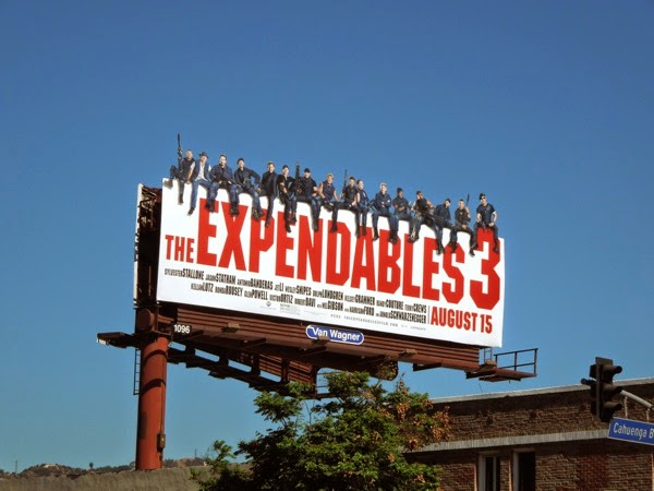 The Expendables 3 movie billboard