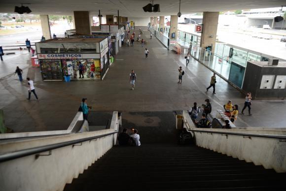 A Rodoviária do Plano Piloto está sem ônibus devido ao ato de protesto contra as reformas trabalhista e da Previdência Marcello Casal Jr/Agência Brasil