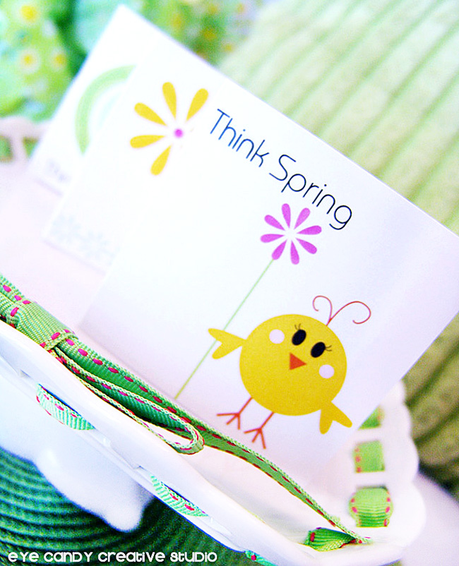think spring little chick, chick holding flower, spring stationery line